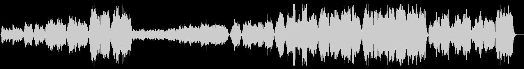 華やかで壮大なファンファーレ(打楽器なしの未再生の波形