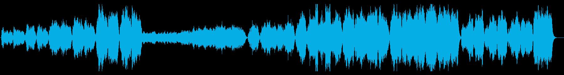 華やかで壮大なファンファーレ(打楽器なしの再生済みの波形