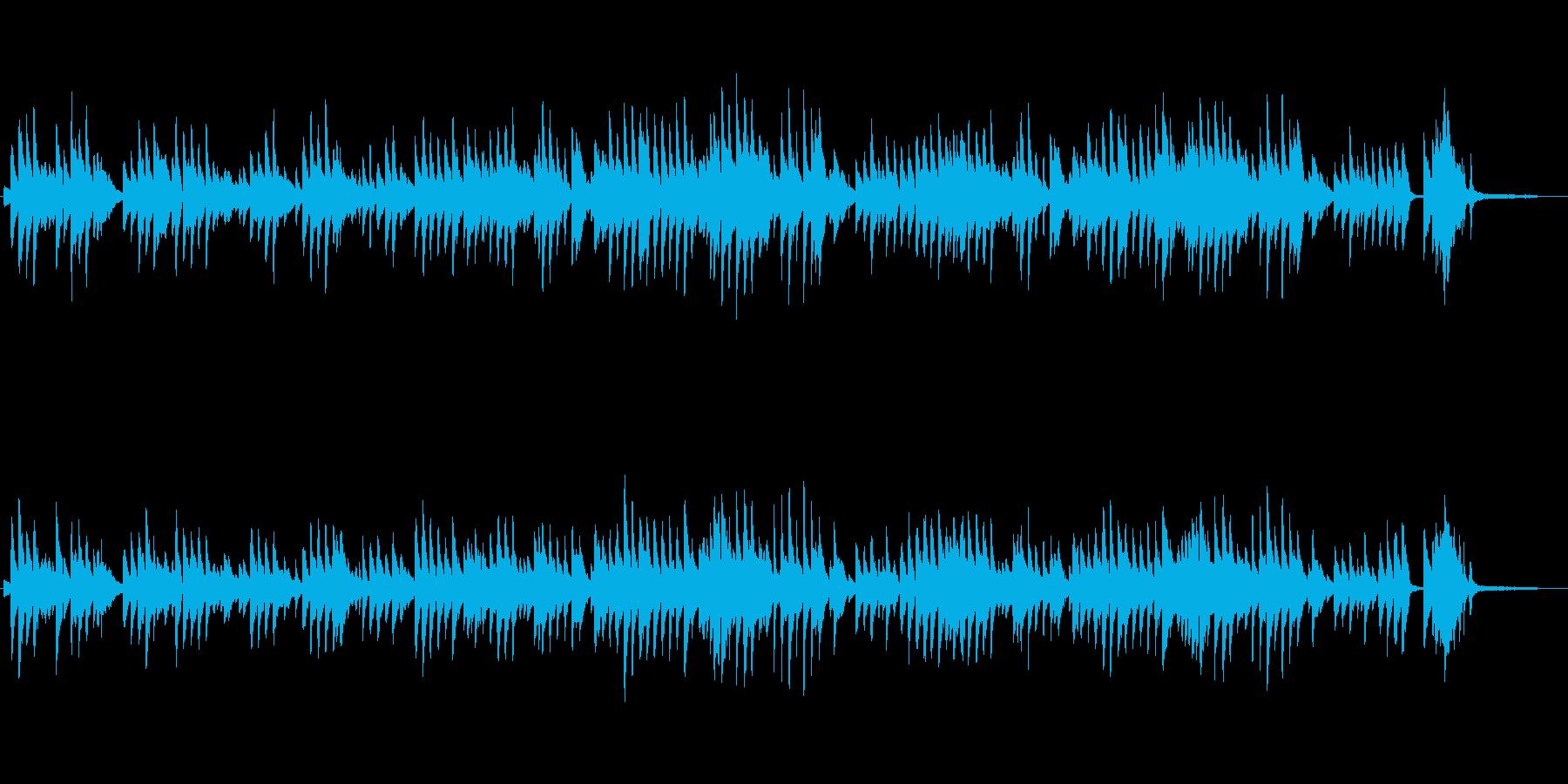 ダニーボーイ、ピアニシモのピアノで優しくの再生済みの波形