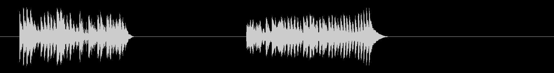 ピアノスケール-2バージョンの未再生の波形