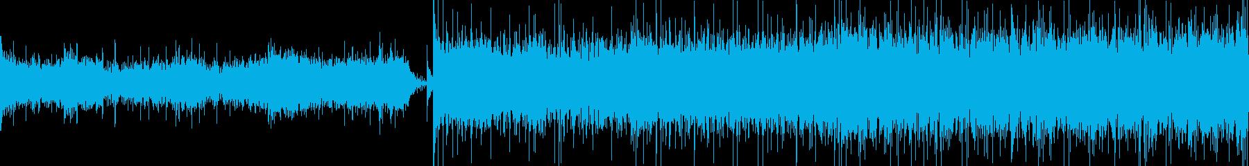 緊迫、奇襲シーン等向けのループ音源です。の再生済みの波形