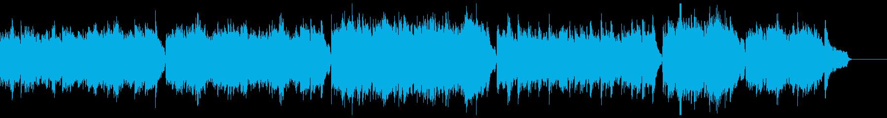 穏やかで暖かいピアノアルペジオ:高音弦無の再生済みの波形