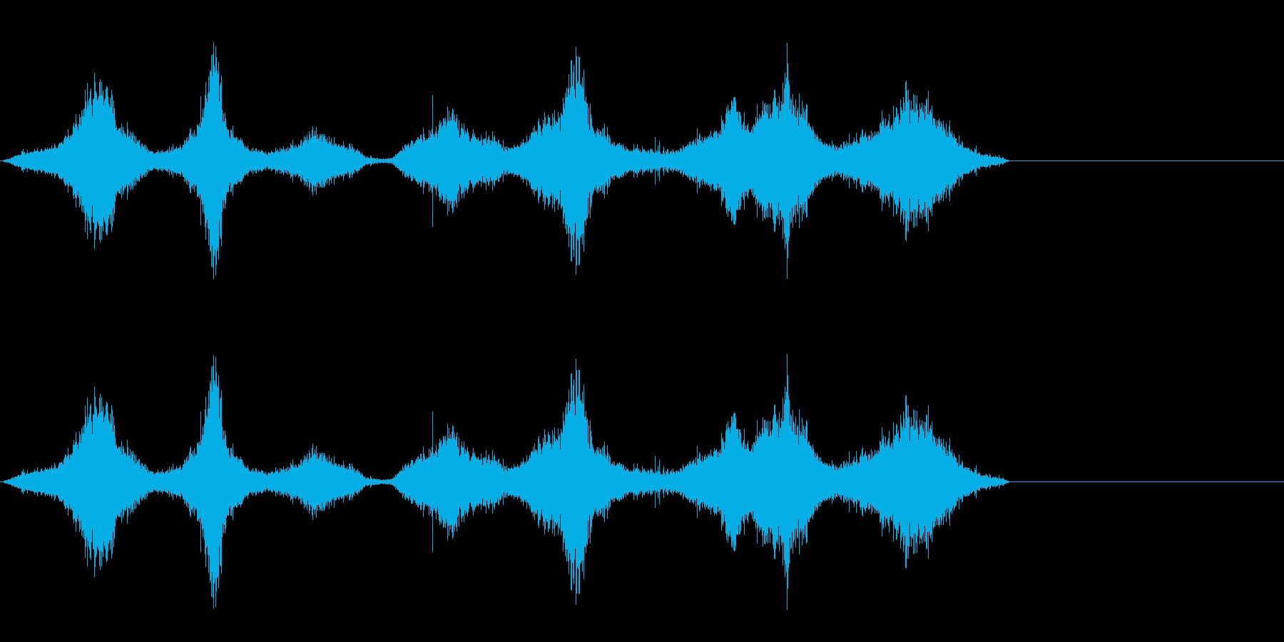 シルク・ナイロン・着替えの再生済みの波形