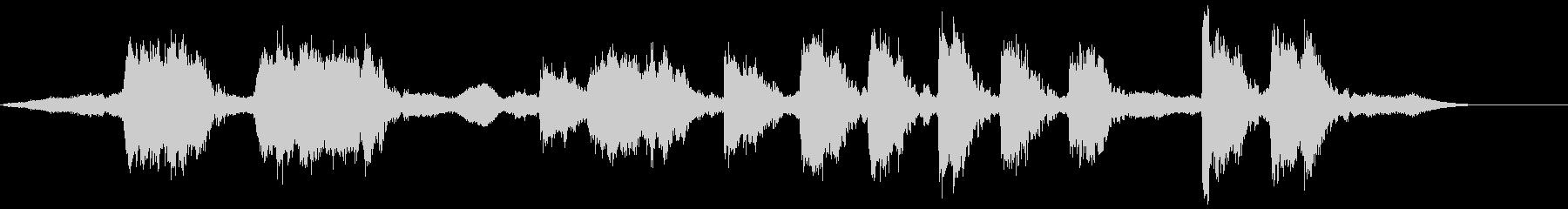 キュイーーンキュイーーンギリギリの未再生の波形