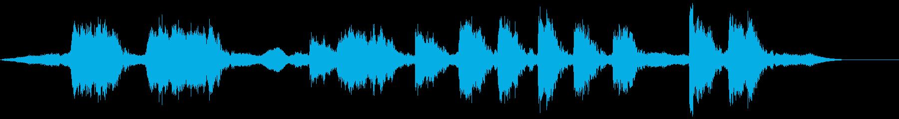 キュイーーンキュイーーンギリギリの再生済みの波形