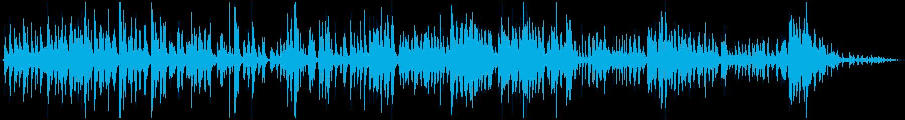 リラックスできる音楽、自然の音の再生済みの波形