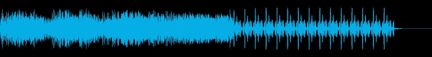静的干渉跳ね返りスワイプ4の再生済みの波形