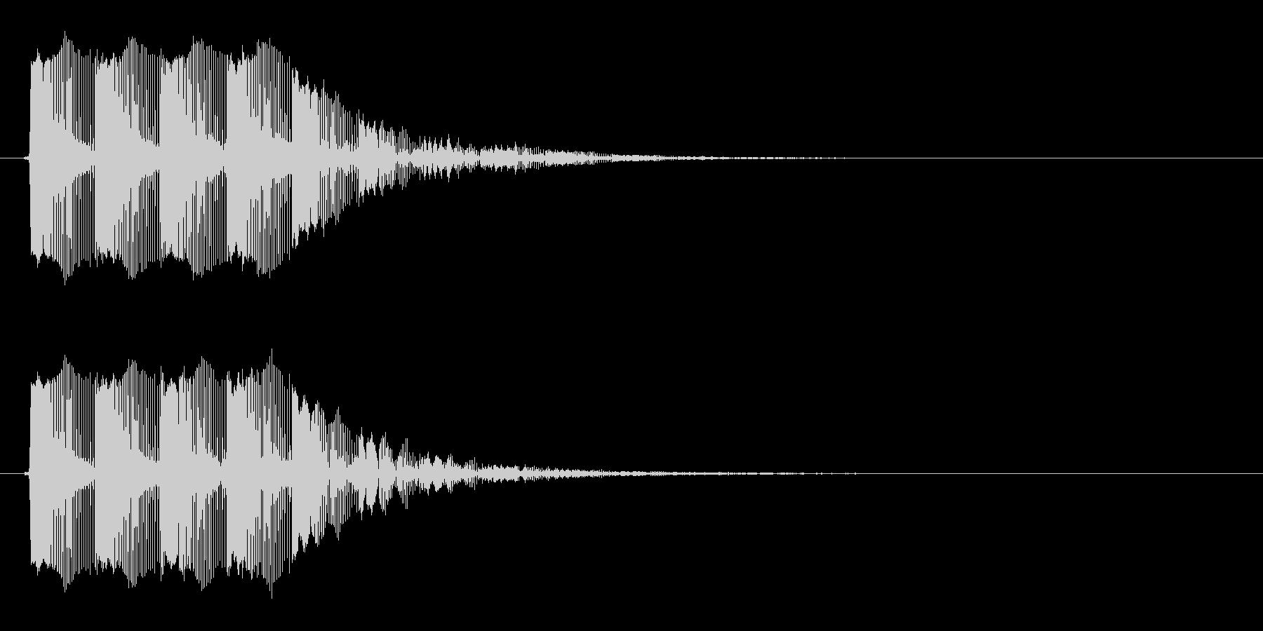 レーザー音 ビビビビーンの未再生の波形