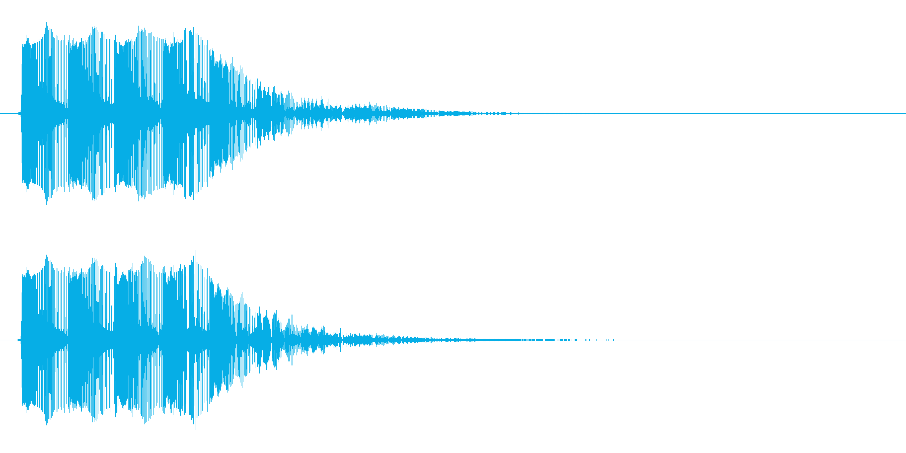 レーザー音 ビビビビーンの再生済みの波形