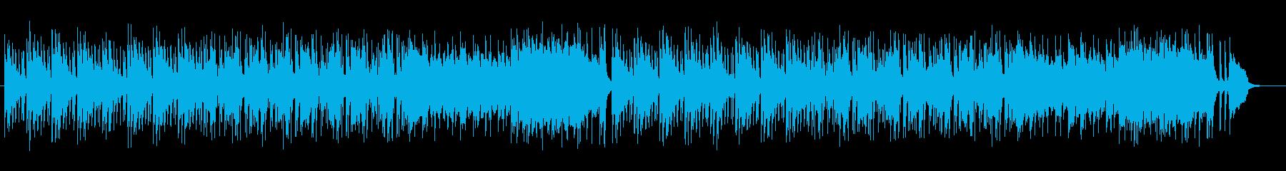 柔らかく明るいミュージックの再生済みの波形