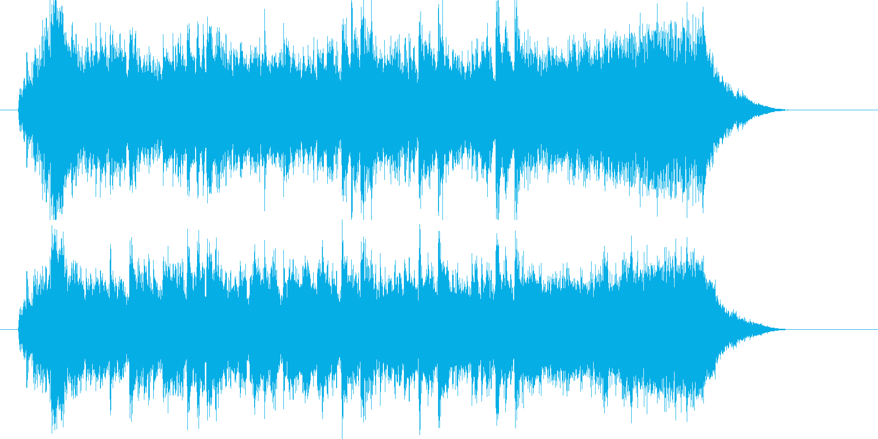情熱的なバンド演奏によるジングル曲の再生済みの波形
