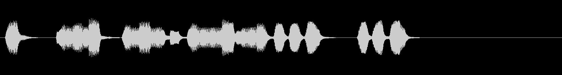 ラテン調の生演奏のリコーダージングルの未再生の波形