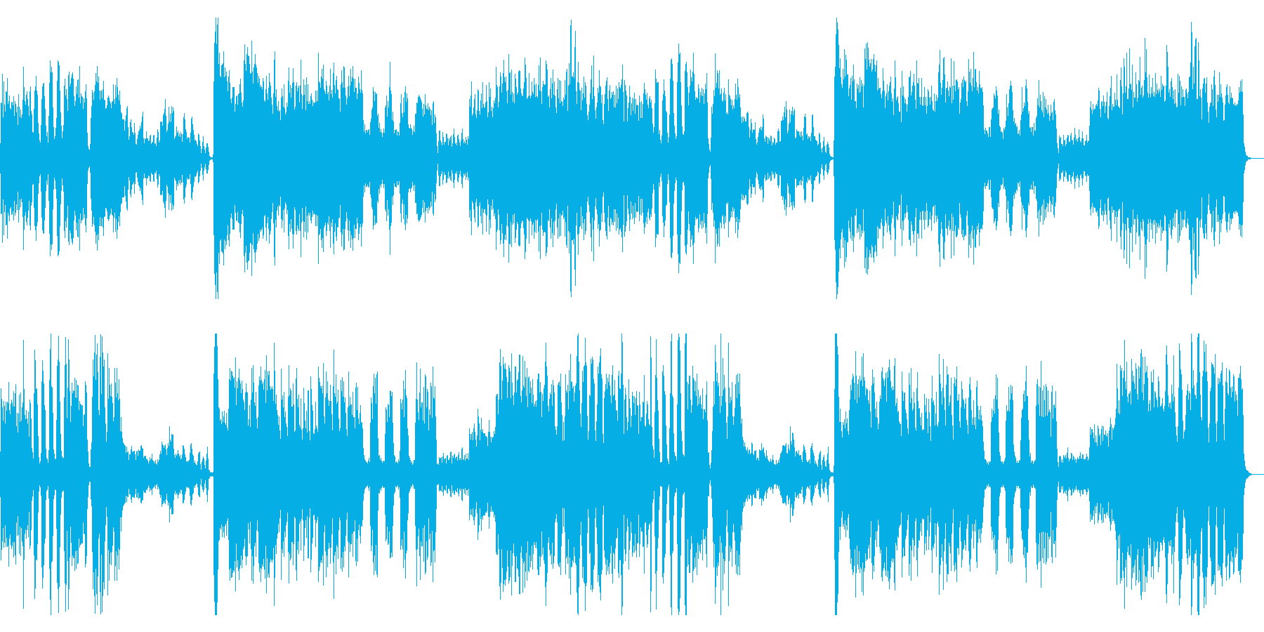 映画「アマデウス」で有名な交響曲の再生済みの波形