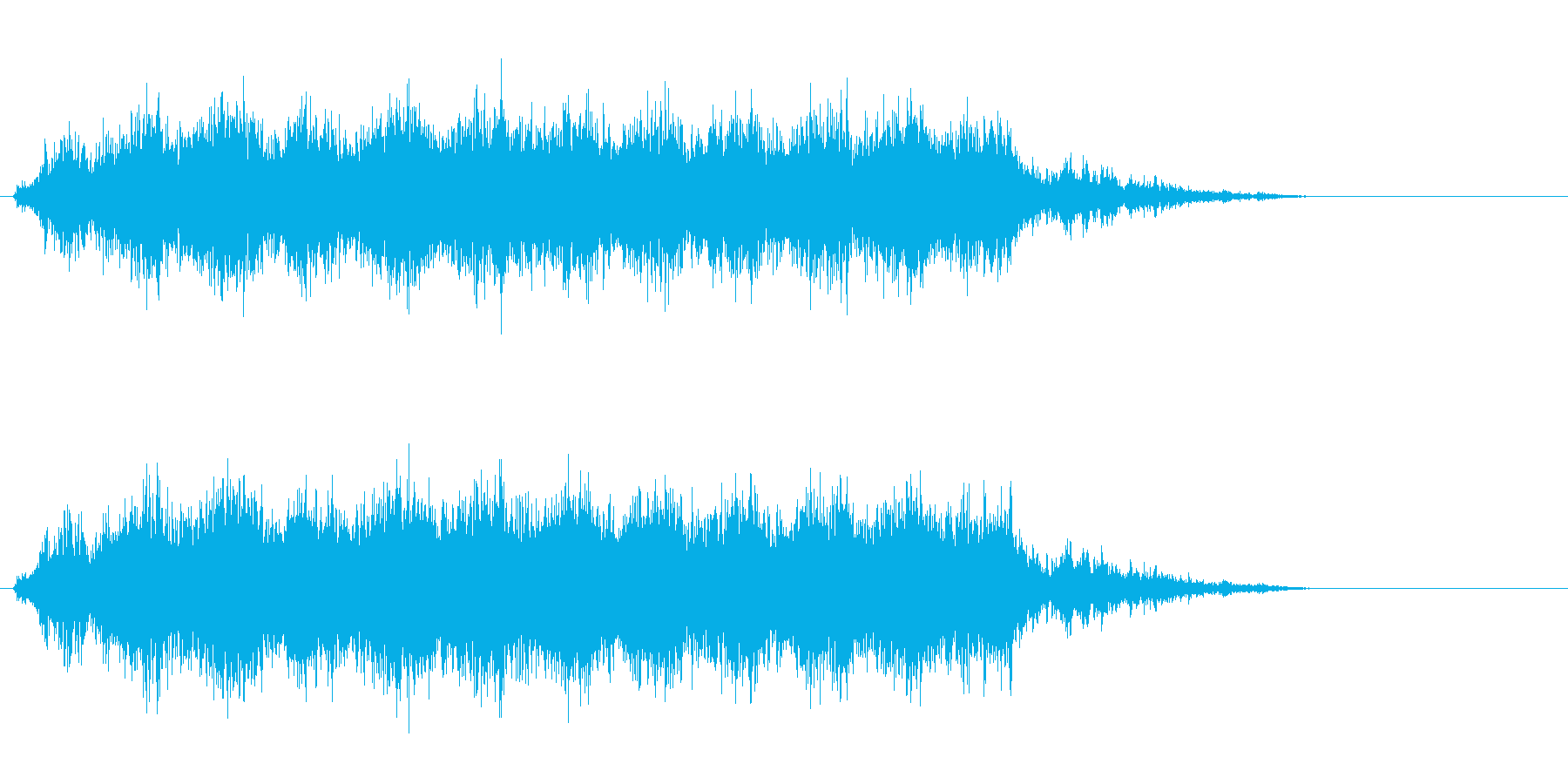 [生録音]ミキサーで混ぜる01-ショートの再生済みの波形