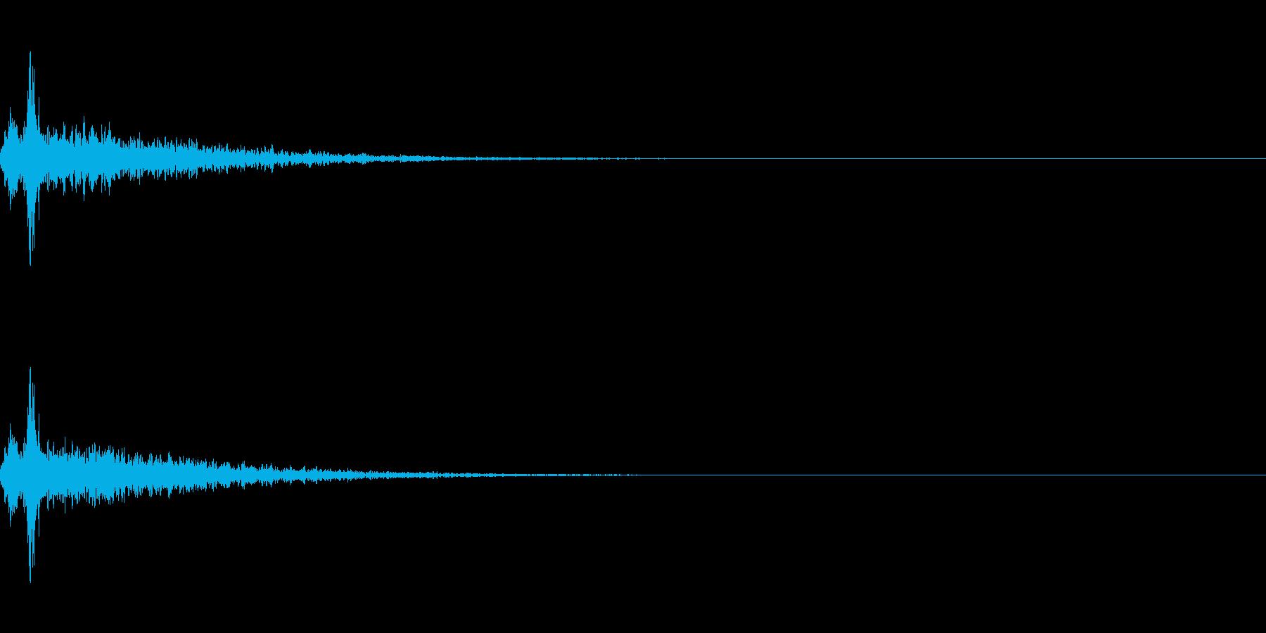 リバーブがかかった神楽鈴(小)を振る音の再生済みの波形
