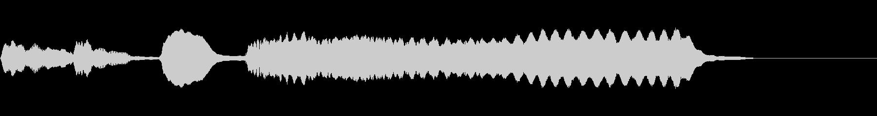 気の抜けたファンファーレ/リコーダーの未再生の波形