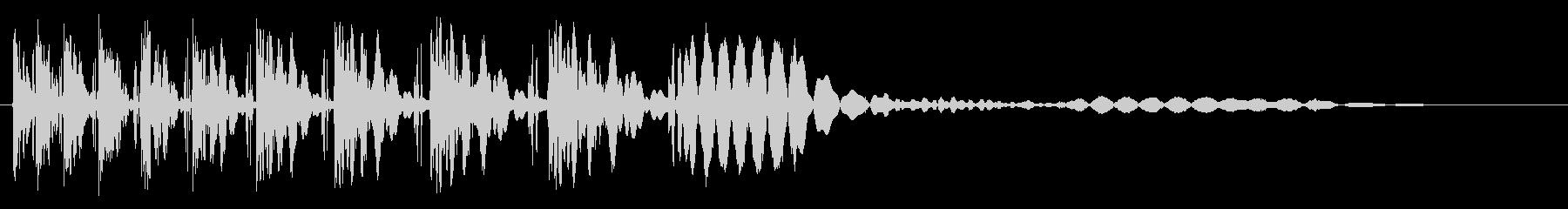 段階的なポップヒットスイープの未再生の波形