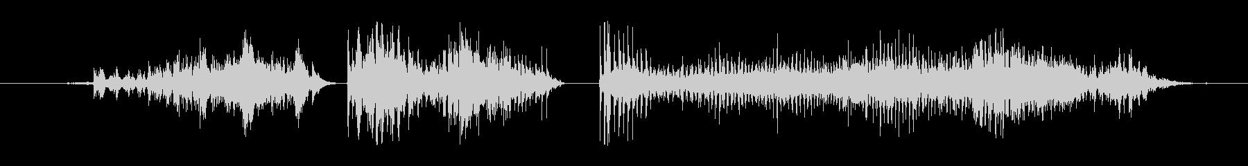 モンスター 窒息ゾンビ09の未再生の波形