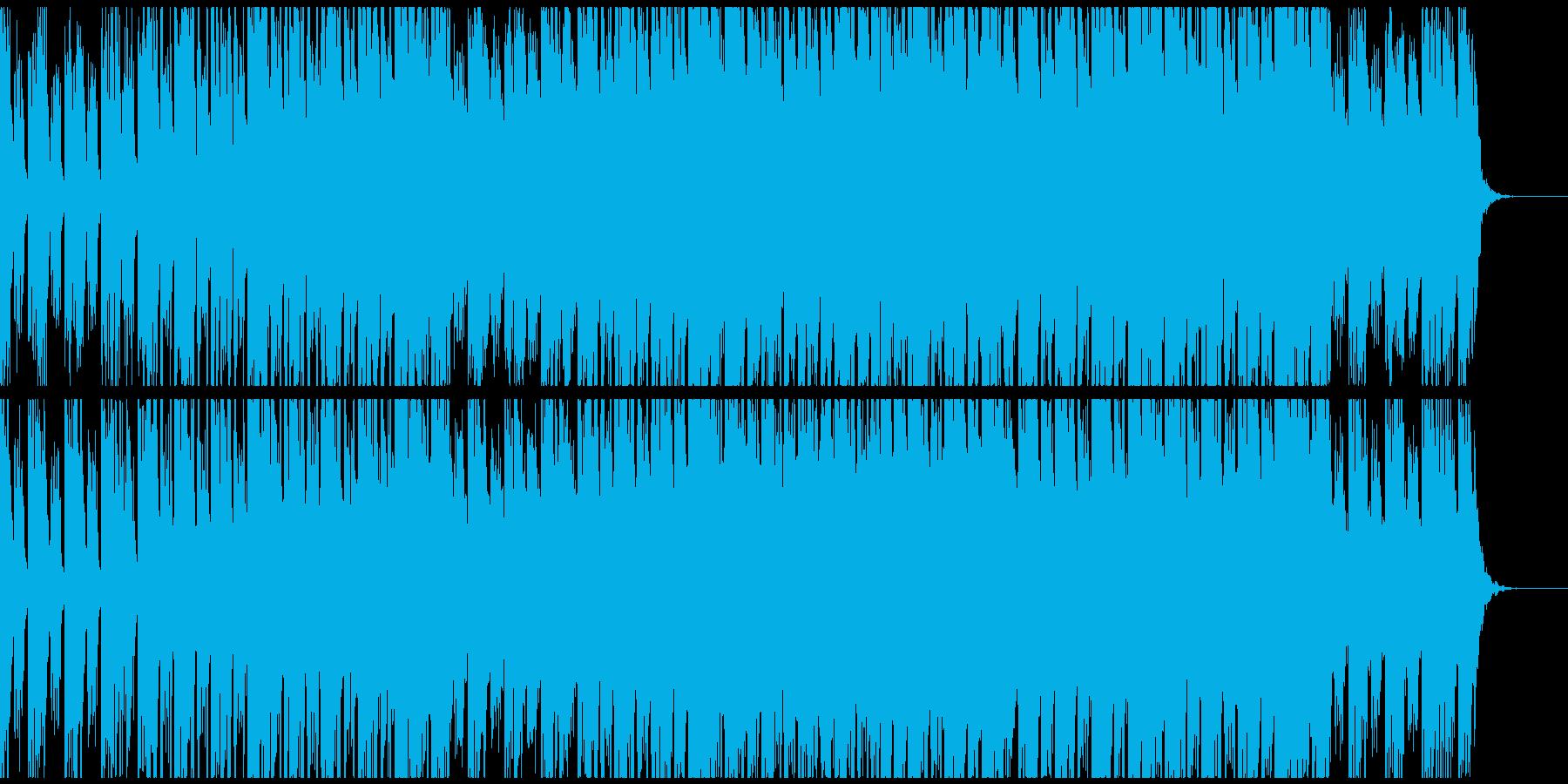 落ち着いたエレピとシンセの未来的なBGMの再生済みの波形