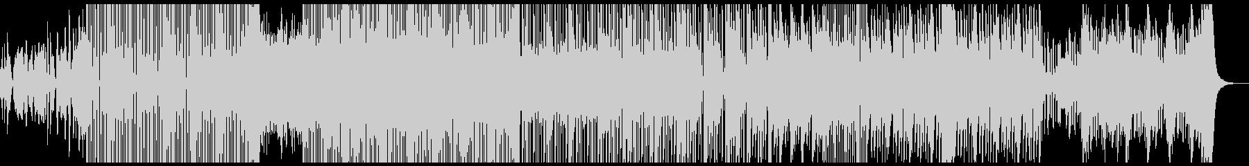 明るく陽気な雰囲気から、ダークな曲調にの未再生の波形