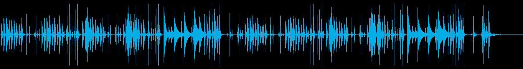 会話シーンなどの少し間の抜けたBGMの再生済みの波形