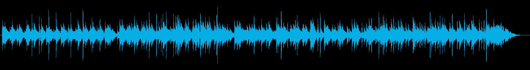 ゆったりしたアコギが奏でる癒し系楽曲の再生済みの波形