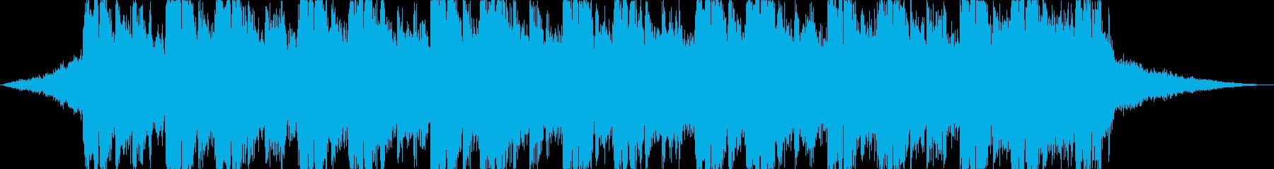未来感のあるエレクトロニックジングルの再生済みの波形