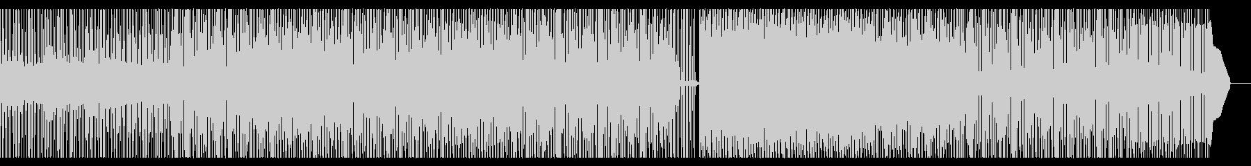 淡々と流れるBGMの未再生の波形