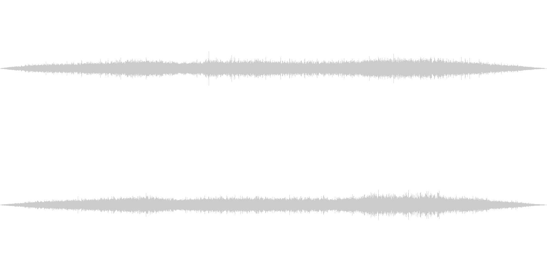 【環境音】500個の風鈴の音01の未再生の波形