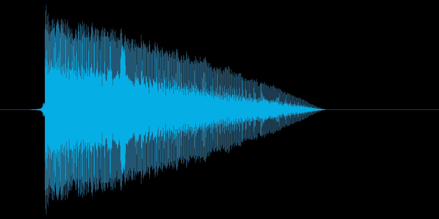 ゲーム(ファミコン風)レーザー音_036の再生済みの波形