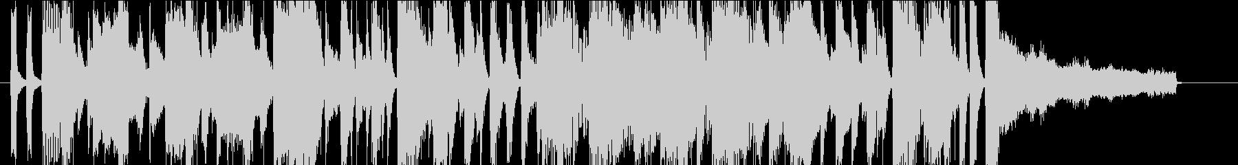 30秒CMサイズ 明るく元気な4ビートの未再生の波形