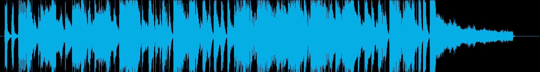 30秒CMサイズ 明るく元気な4ビートの再生済みの波形