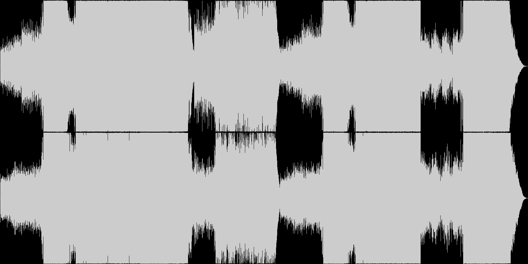 映像用ちょっぴり切ないゆったりロックの未再生の波形