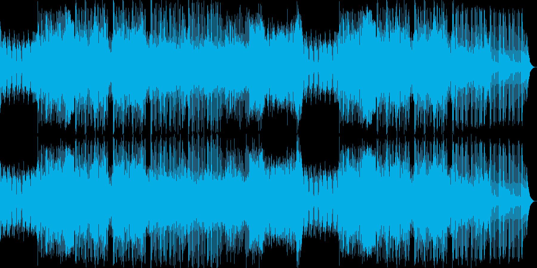 近未来的な音楽とファンクなギターのコラボの再生済みの波形