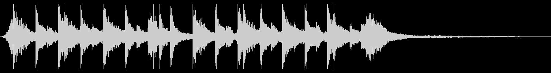 切ないきらきらピアノジングル②の未再生の波形