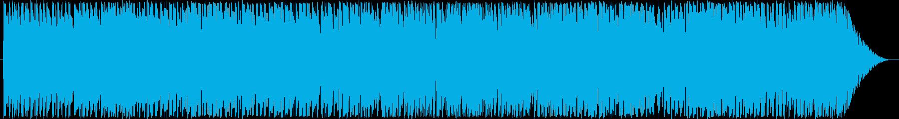 民族調なリズムを取り入れたポップなBGMの再生済みの波形