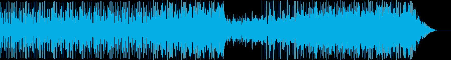 オーケストラとシンセサイザーの戦闘BGMの再生済みの波形
