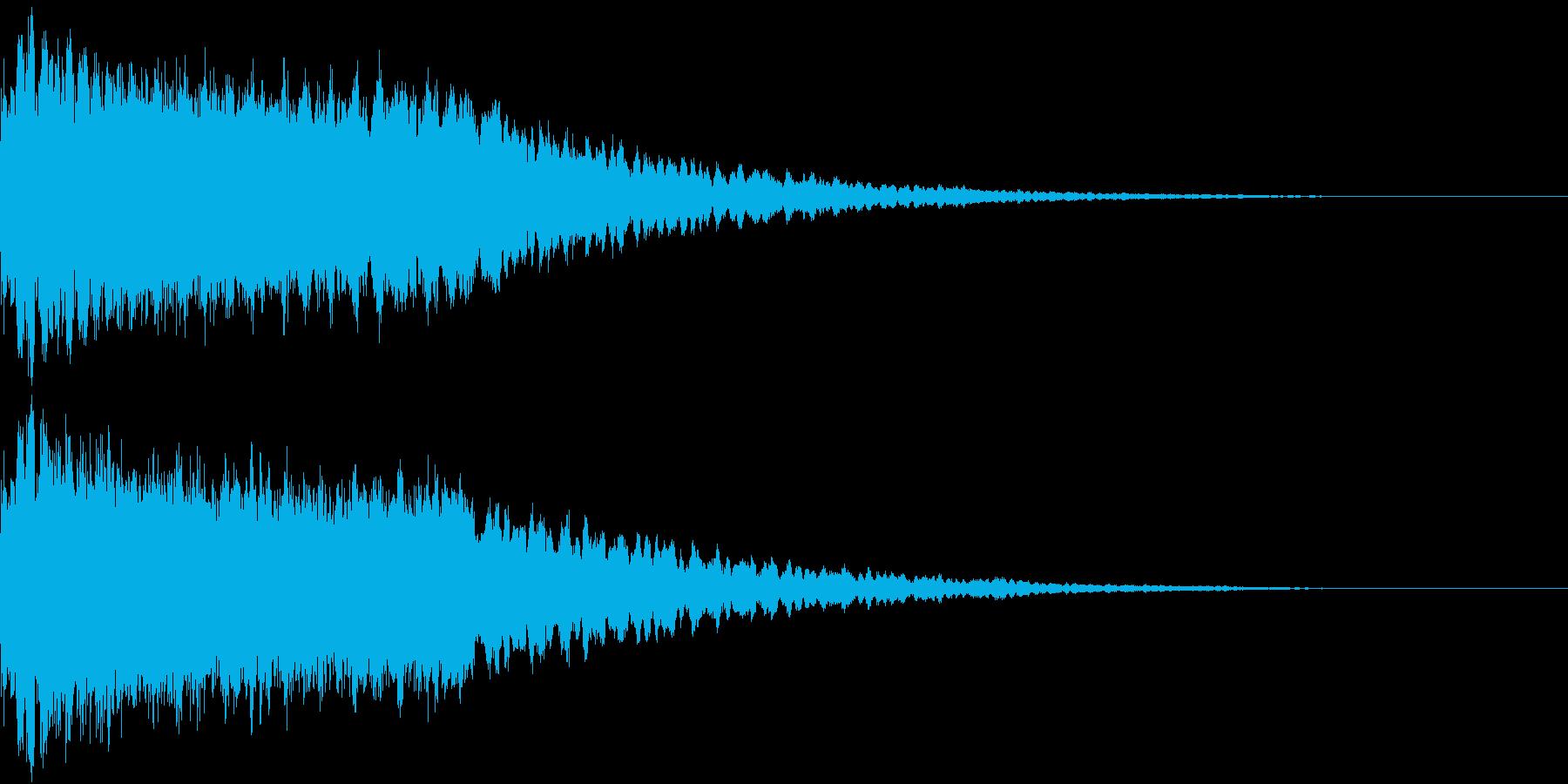 キュイン シャキン キラリン ピカン 2の再生済みの波形