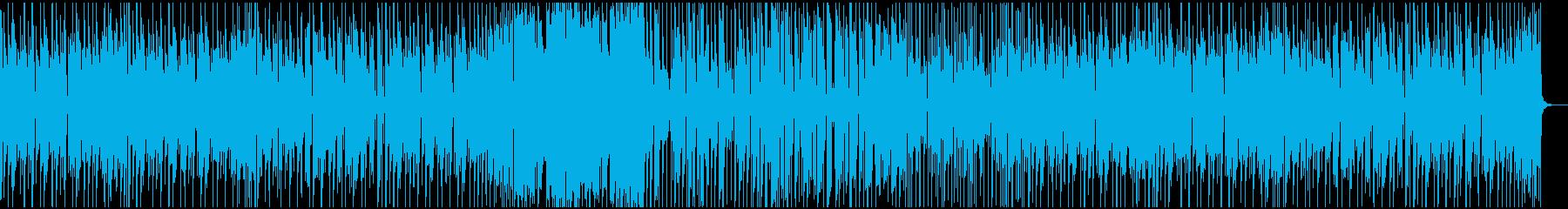 ファンキーなインストの再生済みの波形