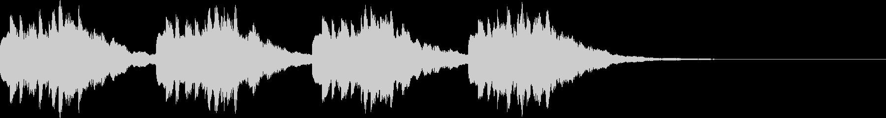 オーソドックスメロディアス着信音2の未再生の波形