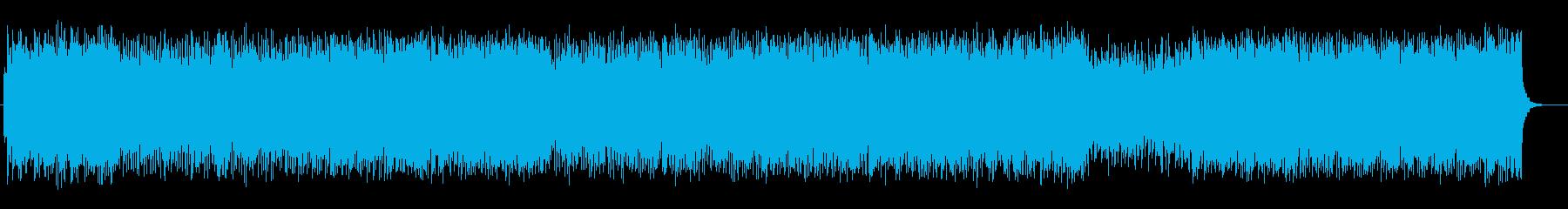 シンセサイザーの宇宙を思わせるポップスの再生済みの波形