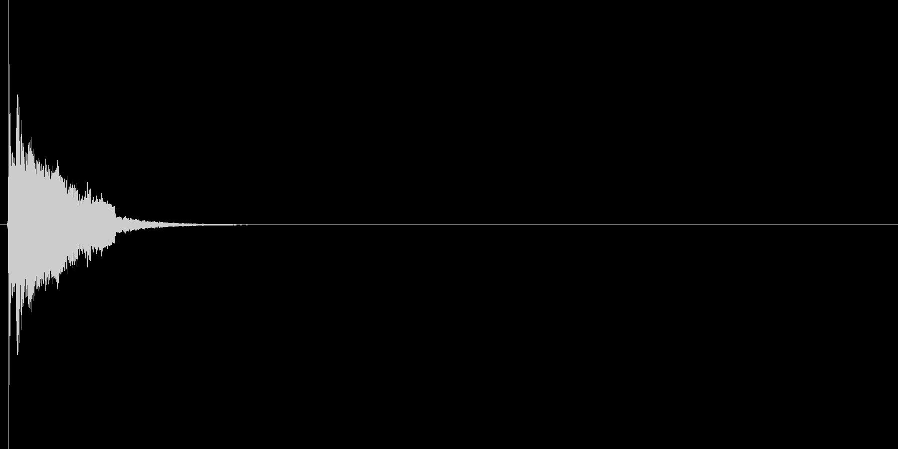 ピュン(逃走、逃げる、ダッシュ)の未再生の波形