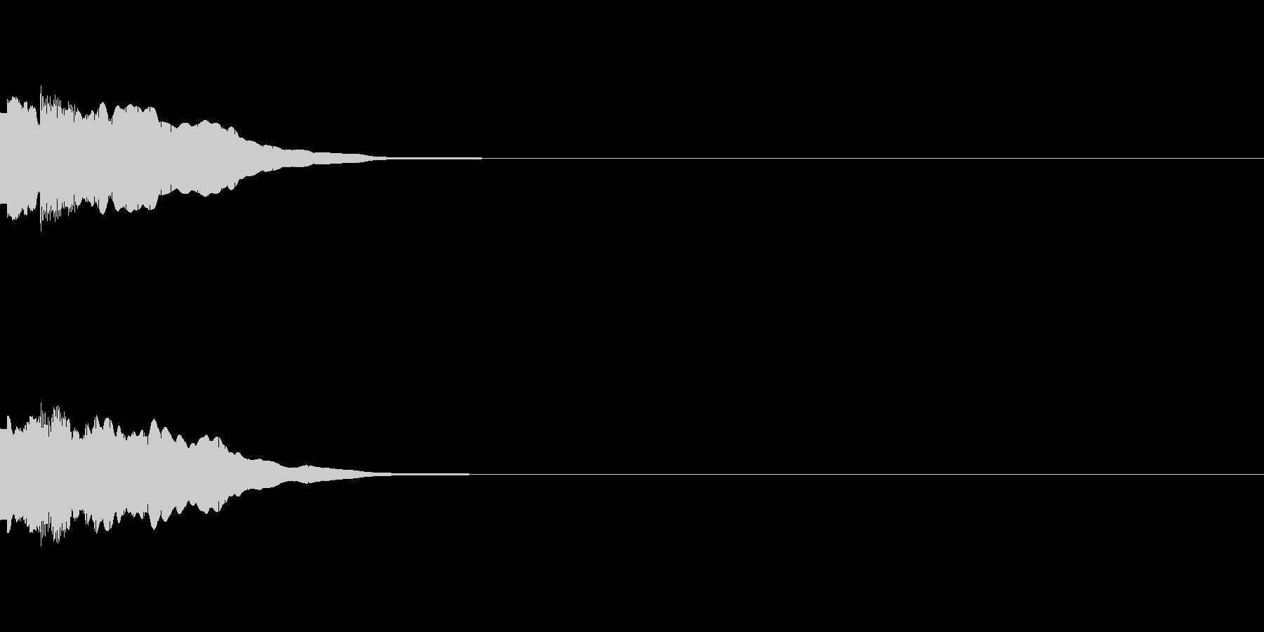 ピンポーン(クイズ解答、正解)の未再生の波形