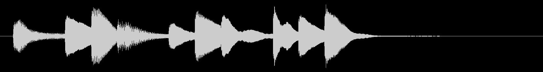 やわらかで優しいオルゴールのジングルの未再生の波形