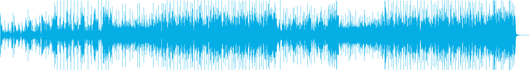 ノリノリ、ご機嫌なブラス・ファンクAの再生済みの波形