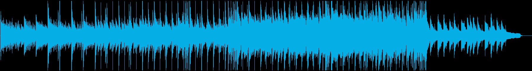 感動的シーンなどに。ピアノバラードBGMの再生済みの波形