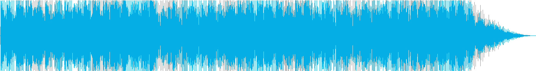 肌寒く浮遊感のあるBGMの再生済みの波形