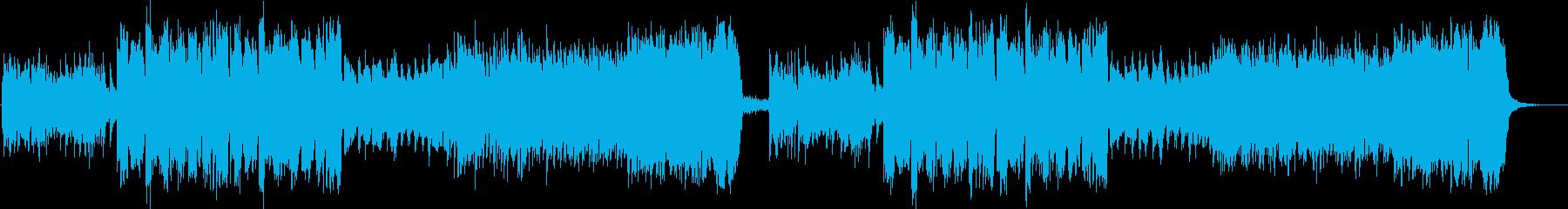 静かな透明感のあるアンビエント調の曲の再生済みの波形