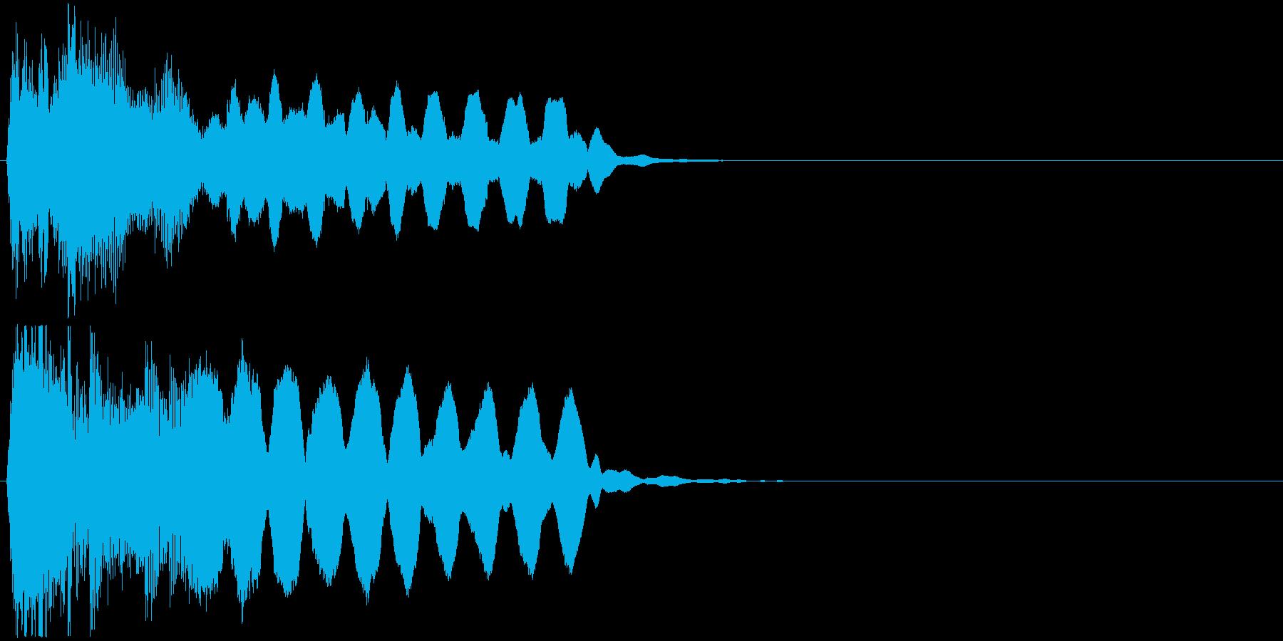尺八、三味線、琴が響く和風ジングルの再生済みの波形