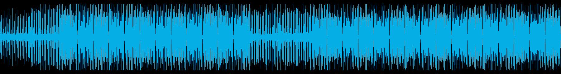 ラジオ番組の後ろで流れそうなEDMの再生済みの波形